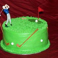 Golf Birthday Cake This cake was for a co-worker's son's birthday. I am a critique subgroup member.