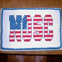 Flag Letters   I make a cake for my husband's work every month. This was done in July a couple years ago.