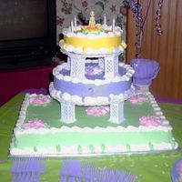 Tinkerbell Cake I made this for my husband's 28th birthday. We threw a huge party, all Tinkerbell themed. He says that Tinkerbell is the hottest...