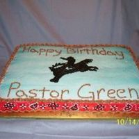 Western Cake Did this for my cowboy husband at church party.