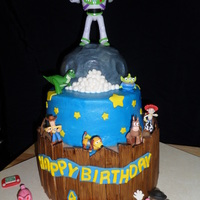 Another Toy Story Cake I made this cake for my Grandson. It is a WASC cake with bc icing & fondant accents. Thanks to all the CCers who posted pictures. I...