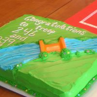 Girl Scout Bridging Ceremony Cake