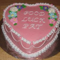 Going Away white cake, buttercream icing, strawberry filling