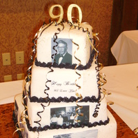 90Th Birthday Cake Edible Images on fondant