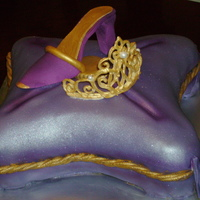 Gumpaste Shoe - Chocolate Tiara Chocolate Cake with fondant, gumpaste shoe and chocolate tiara.