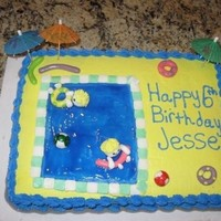 Swimming Party This was done for a little boy who was having a swimming party for his birthday.