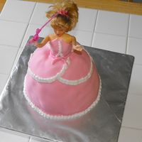 Barbie Birthday Cake MMF covered chocolate cake.