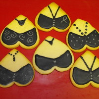 "Bra Cookies NFSC Bra Cookies with Glace Icing. Made for a ""Hero Bra"" event. This event raised over $350 which will help pay for 3 1/2..."