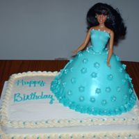 Princess Party! Vanilla Cake with buttercream icing.