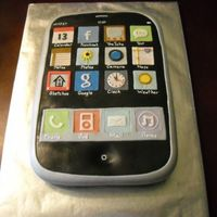 Iphone; Uphone 9X13 chocolate cake. Used MMF to cover and decorate. Very detailed cake. Hope the birthday girl likes it.