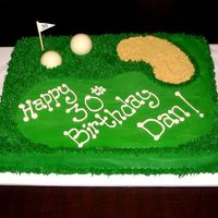 30Th Birthday Golf Cake