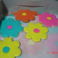 Flower Cookies These were for a friend's daughter's Luau Birthday Party. It was at the pool, so she wanted cookies.
