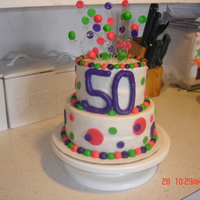 50Th Birthday   Buttercream with MMF accents