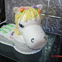 Pony This was a Little Pony cake for a 4 year old girl. She loves horses and wanted a pony cake. I used the styrofoam wig head (with carved...