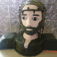 Jesus  This is a Jesus cake I made for a church function. All of the men were to bring a cake for a contest. My Grandad asked me to make him a...