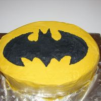 Batman Bat Signal Cake Made this cake for my husband's 30th birthday. I was in a hurry when I decorated it so the icing isn't very smooth and there are...