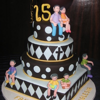 15 Years Of Minstry This was made to celebrate 15 years of ministry of a dear pastoral family. The church ask for a cake with all the family members on it. The...