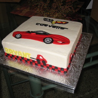 Corvette Cake   Buttercream with fondant accents.