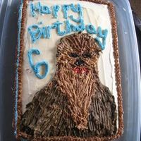 Chewbacca Chocolate cake with buttercream for my Son's Star Wars Birthday!