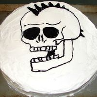 Skull this cake was made for my brother's b-day