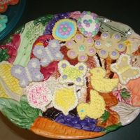 Easter Cookie my first... cream cheese sugar cookies and buttercream frosting