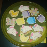 My First Attempt At Easter Cookies! I did these today..It was soooooooo much fun...they are cream chesse sugar cookies with buttercream frosting.