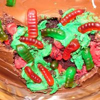 Cake Eating Bacteria 2 My BF and I made this for his mother's birthday..She is a nurse and had been warning us about flesh eating bacteria. So we thought we...