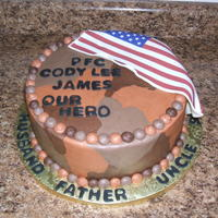 Going Away Cake This was for a young man leaving soon for Afghanistan. His sister ordered it for him, and wanted all the names incorporated, along with a...