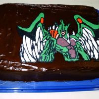 Danny's Birthday Cake  This is the cake I made for my son's birthday. It is a character from Yu-Gi-Oh GX called elemental hero Avion, I think. He got me the...