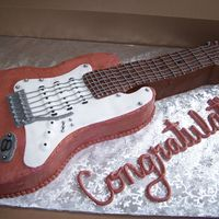 Groom's Cake Major Thanks to sarahcakes!!!!!My best friend just got married this New Year's Day and I made the Groom's Cake. He plays guitar...