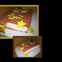 Harry Potter Cake This is a cake I did for my daughter's friend from school. It is a white cake with buttercream covered in fontant. The stars and...