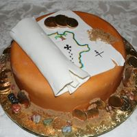 Pirate Treasure Map Cake My 10 year old son made this cake for the 2007 San Diego Cakes on Parade Show and Competition. He placed 2nd in the junior fondant division...