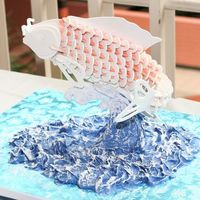 Pastillage Koi Fish Base and center support is wood all other pieces (171 pieces!) are pastillage. The was in the 2007 San Diego Cakes on Parade Show and...
