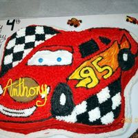 Lightning Mcqueen this was for my nephews 4th bday. bigt time Cars fan!!