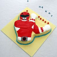 Power Ranger All made out of fondant.