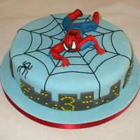 Spiderman All made out of fondant.