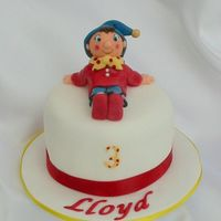 "Noddy This was a little 4"" cake made for a friend's son."