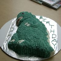 Godzilla!!!!!!!!!   birthday cake for a coworker who loves godzilla and just loved this cake
