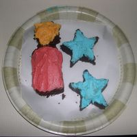 Firecrackers And Stars  individual firecrakers and starts. these were supposed to be petit fours but it was in the 90s so i just put a bit of buttercream on the...