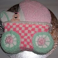 Baby Buggy This is a cake that I made for a baby shower - they want to go with a buggy because it would match the chocolate buggy boxes that I made...