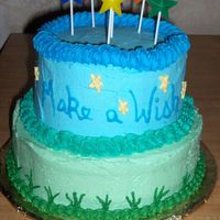 Wish Upon A Star I made this cake for the Birthday's in Feb. I was trying to achieve a gradiation from the green grass to the sky. There are 4...
