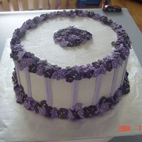 Voilet Cake I made this cake for a rubber stamping club meeting, but it could be used for anything. The flowers are royal, everything else is...
