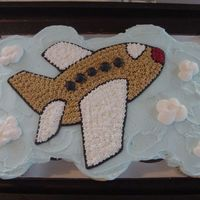 Airplane Cupcakes This is actually 15 cupcakes that were frosted as a single cake.