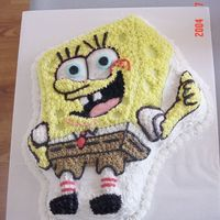 Spongebob  I would've put this under children's birthday cakes, but it was for my husband. He insisted on Spongebob for his birthday. This...
