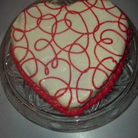 Swirly Heart Red velvet cake with handmade cream cheese frosting.
