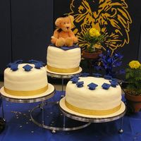 "Kindergarten Graduation I made this cake for my son's kingarden graduation. It was to feed about 75 people. There were three tiers 6"", 8"" &10&..."