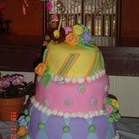 First Birthday Crooked Cake This is a three tiered cake. It was my first attempt at a crooked cake. I made this for my niece's 1st birthday. I put the monkey on...