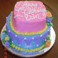 1St Birthday Smash Cake This cake was for my niece to smash. It was make to go along with the three tiered crooked cake I made for everyone else.