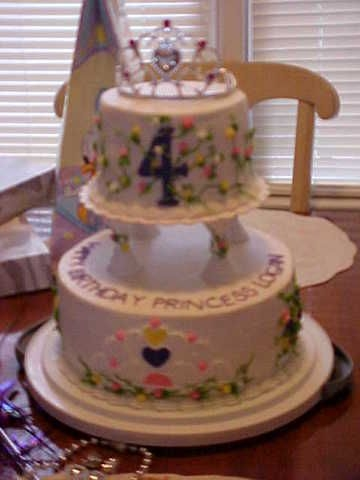 For Princess Logan This cake was for my neice's birthday. It was french vanilla layers with strawberry buttercream filling and buttercream icing. She is...