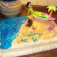 Polly Pocket Day At The Beach This was for my friend's daughters birthday. I had fun working with this one...it was too easy! :)